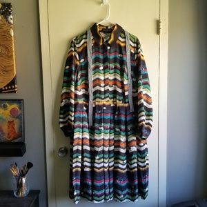 NWT - Eloquii multi-color sheep dress - Size 18